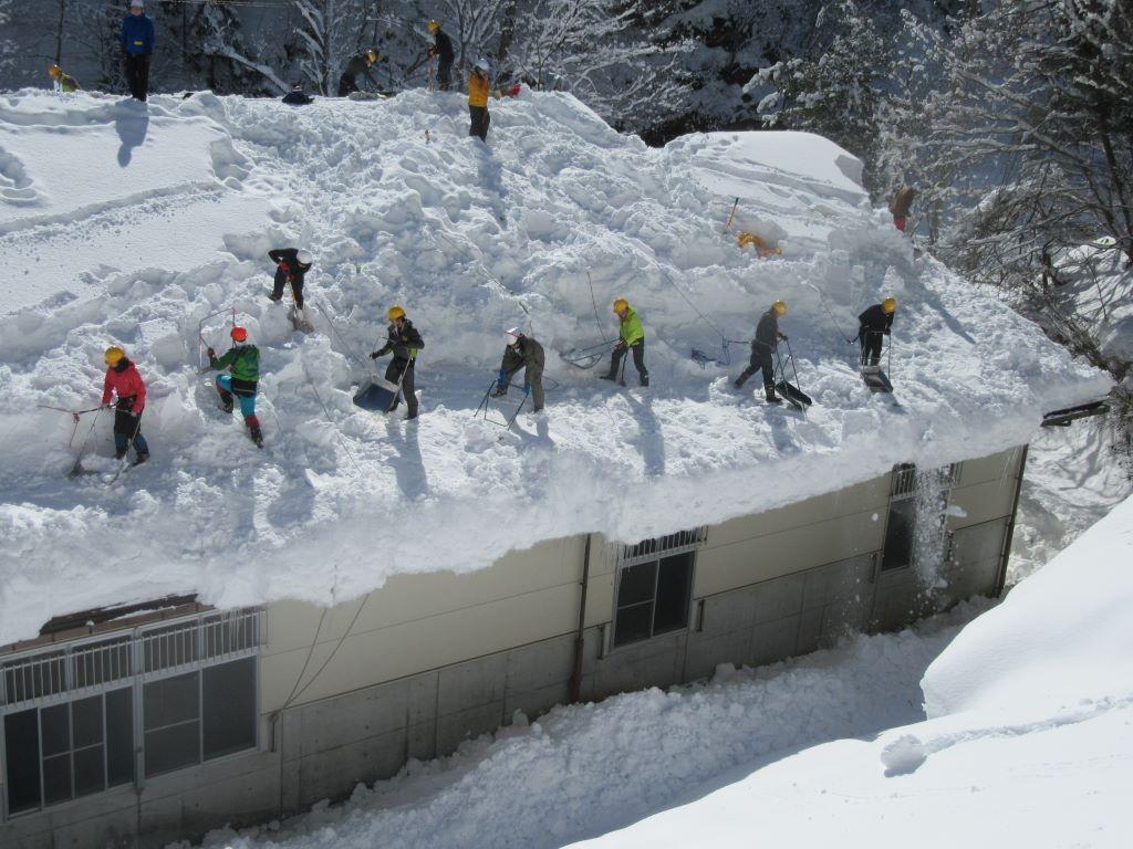雪かき道場in鬼無里