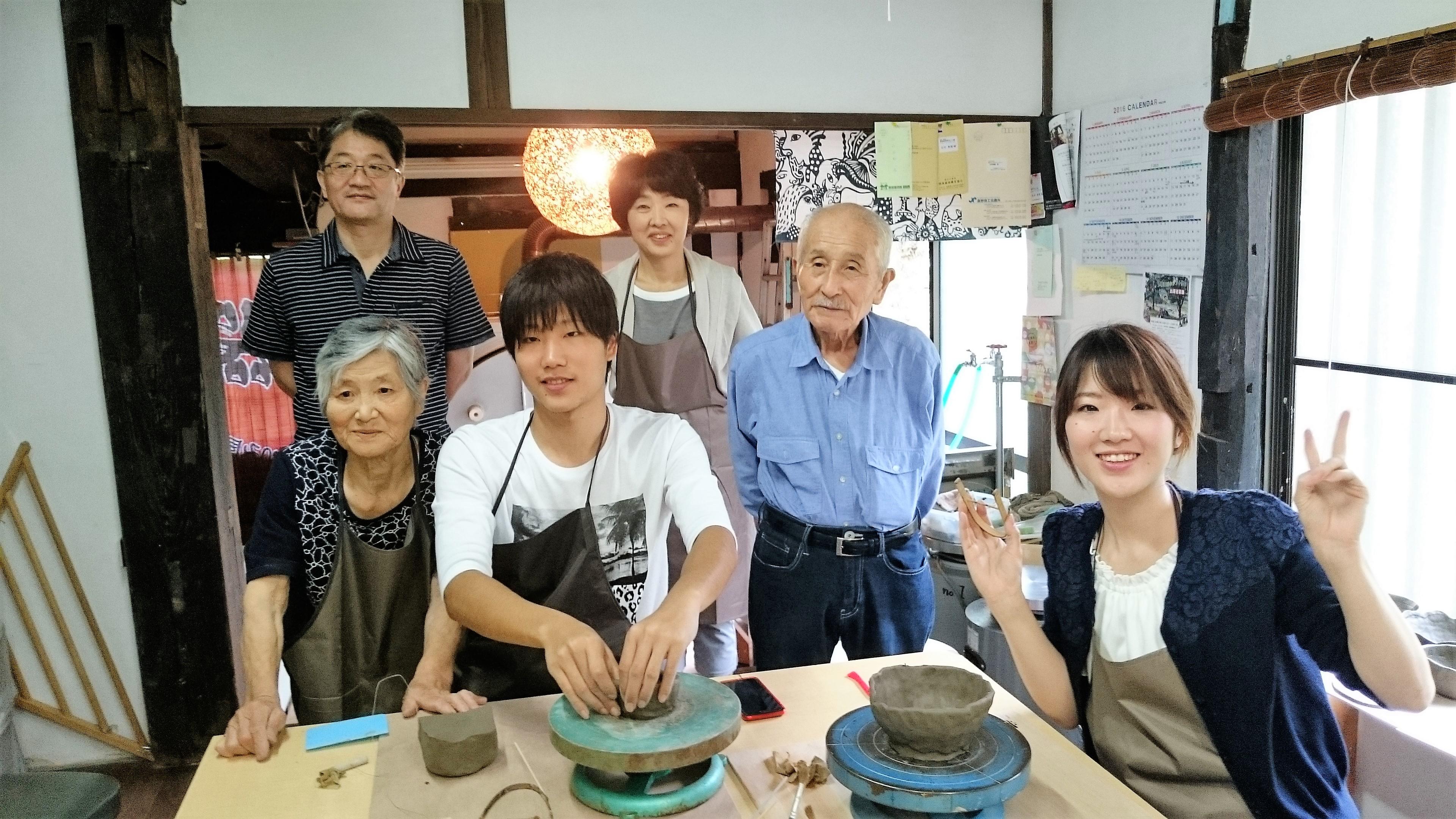 古民家で陶芸体験